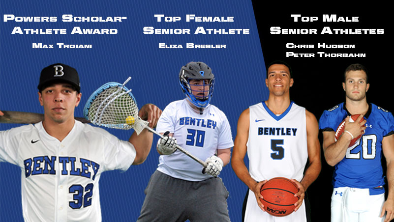 Four Honored as Bentley's Top Senior Athletes