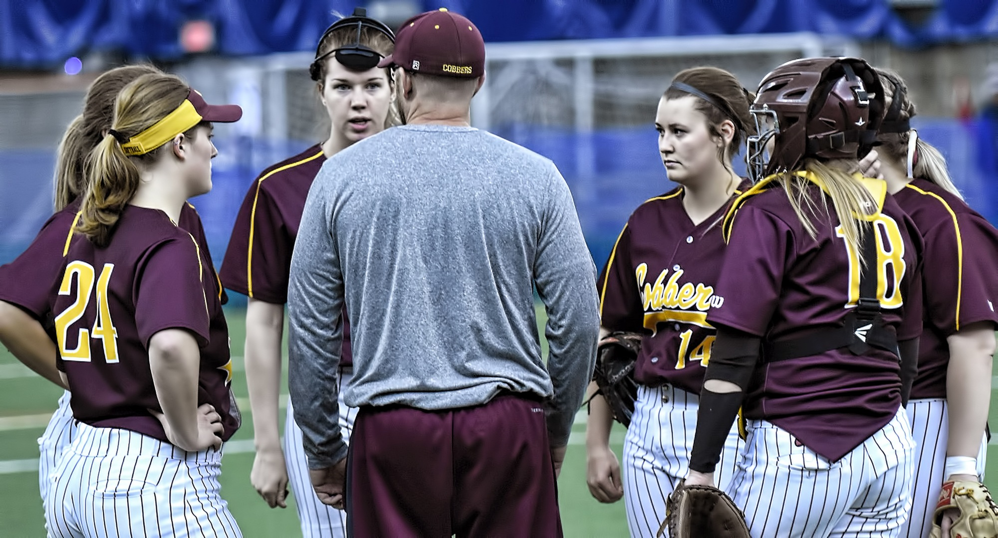 The Cobber softball team dropped a pair of games at Augsburg in the MIAC opener.