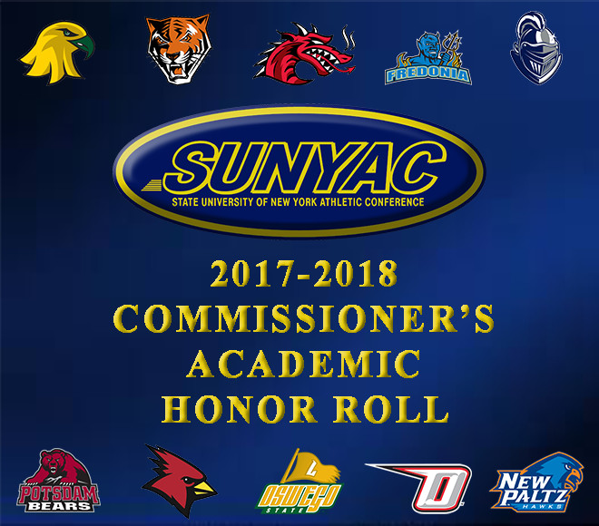 SUNYAC recognizes 2017-18 Commissioner's Academic Honor Roll