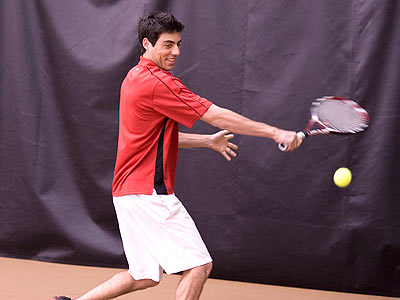 Bulldog men's tennis player Brian Anderson