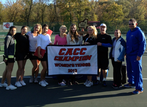 Concordia Women's Tennis Claims Fifth Straight CACC Championship after 5-4 Victory over Chestnut Hill