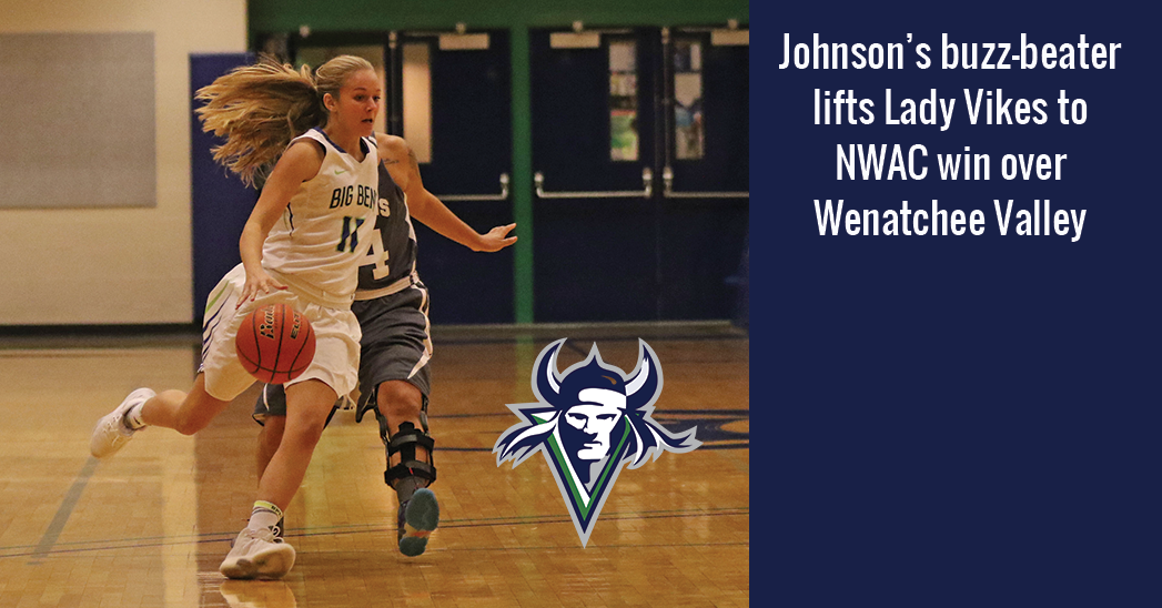 Miranda Johnson hit a 3-pointer as time expired to break a 62-62 tie with Wenatchee Valley and earn Big Bend a major road win 65-62.