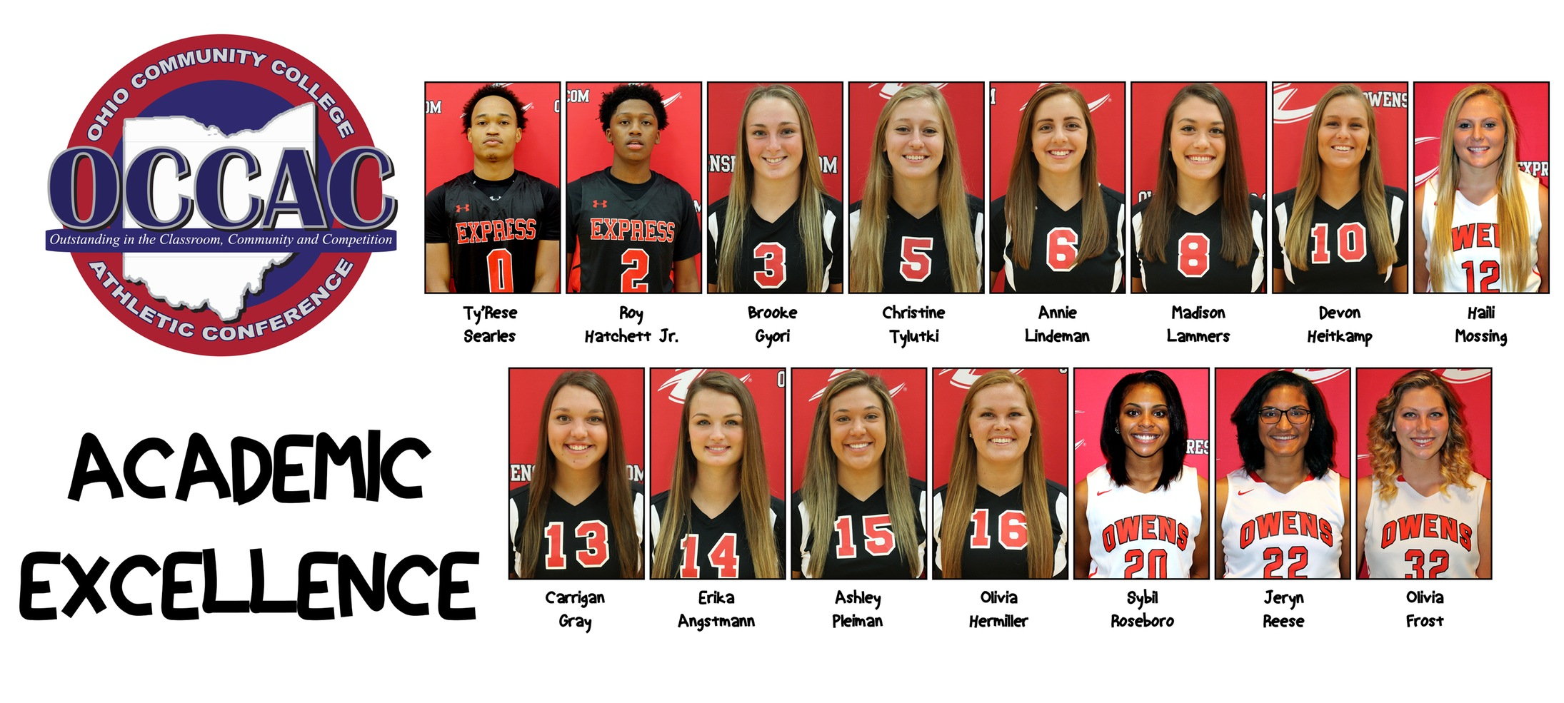 15 Owens Student-Athletes Land Spot On OCCAC's Spring All-Academic Team