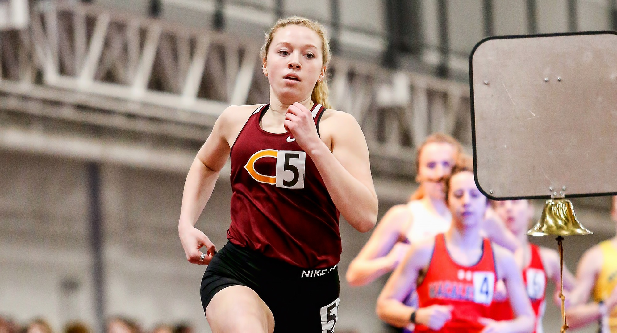 Junior Josie Herrmann had a pair of fourth-place finishes at the DI hosted NDSU Bison OPen meet. She now owns the fastest time in the MIAC in the 600 meters.