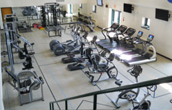 Funkhouser-Fox Fitness Center, picture of area with lifting and cardio machines
