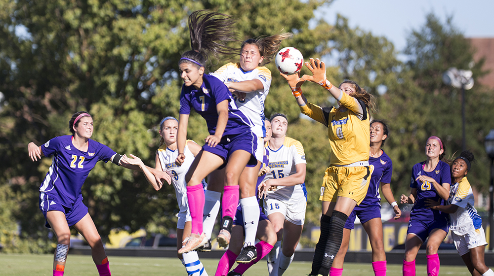Golden Eagle soccer scores late to top Morehead State