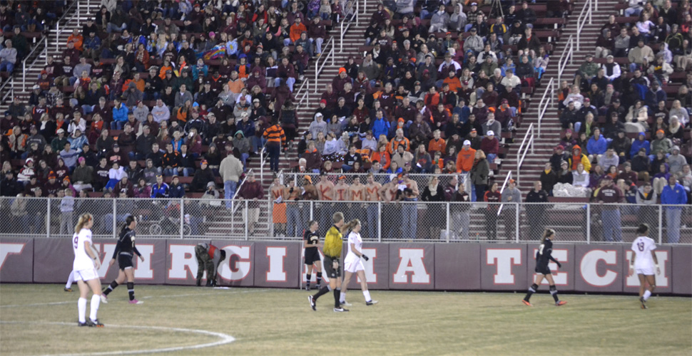 Women's Soccer Fights Hard, But Can't Hold Off Virginia Tech in the Opening Round of the NCAA Tournament, 2-0
