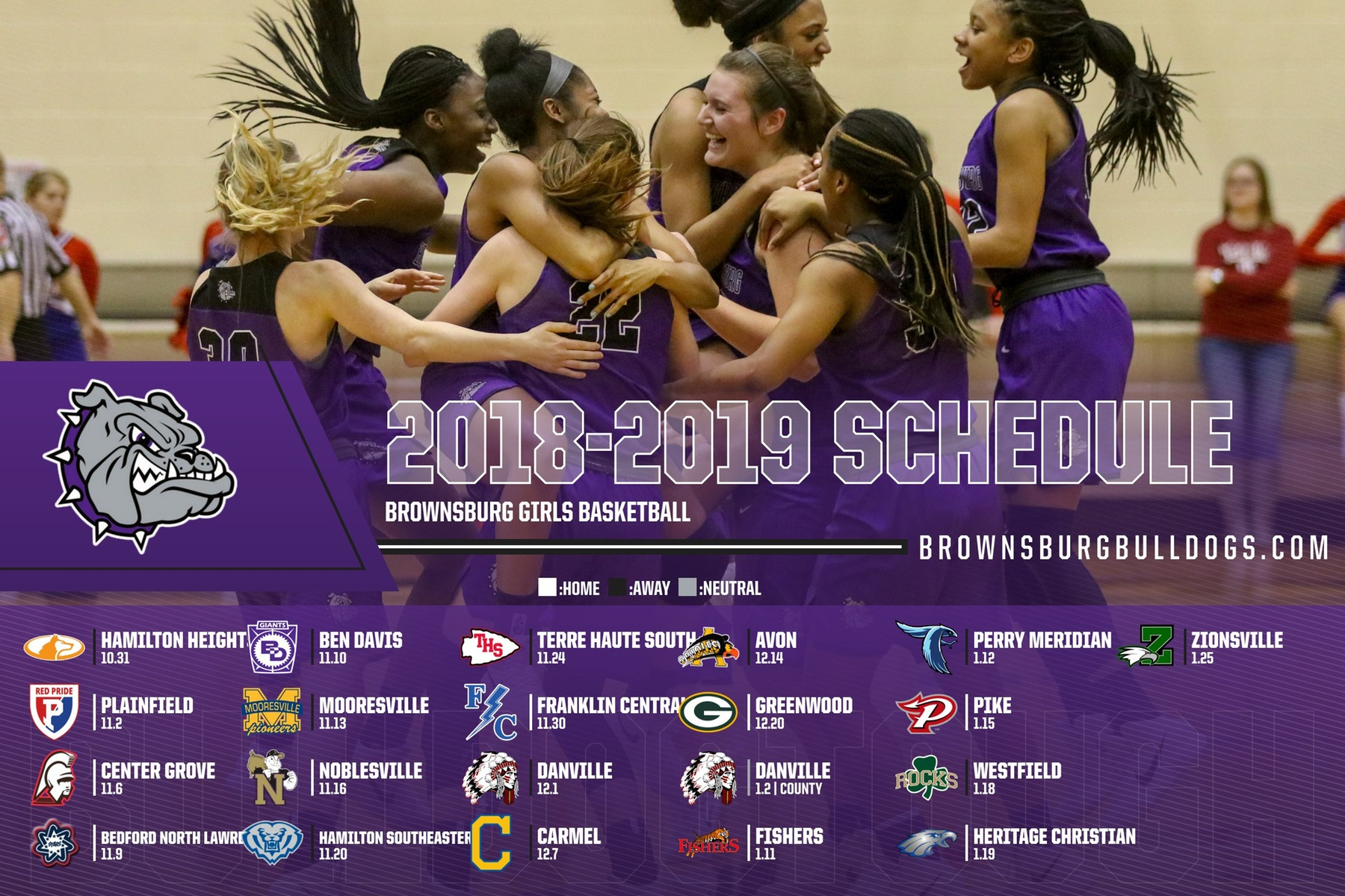 Lady Bulldogs Schedule Announced