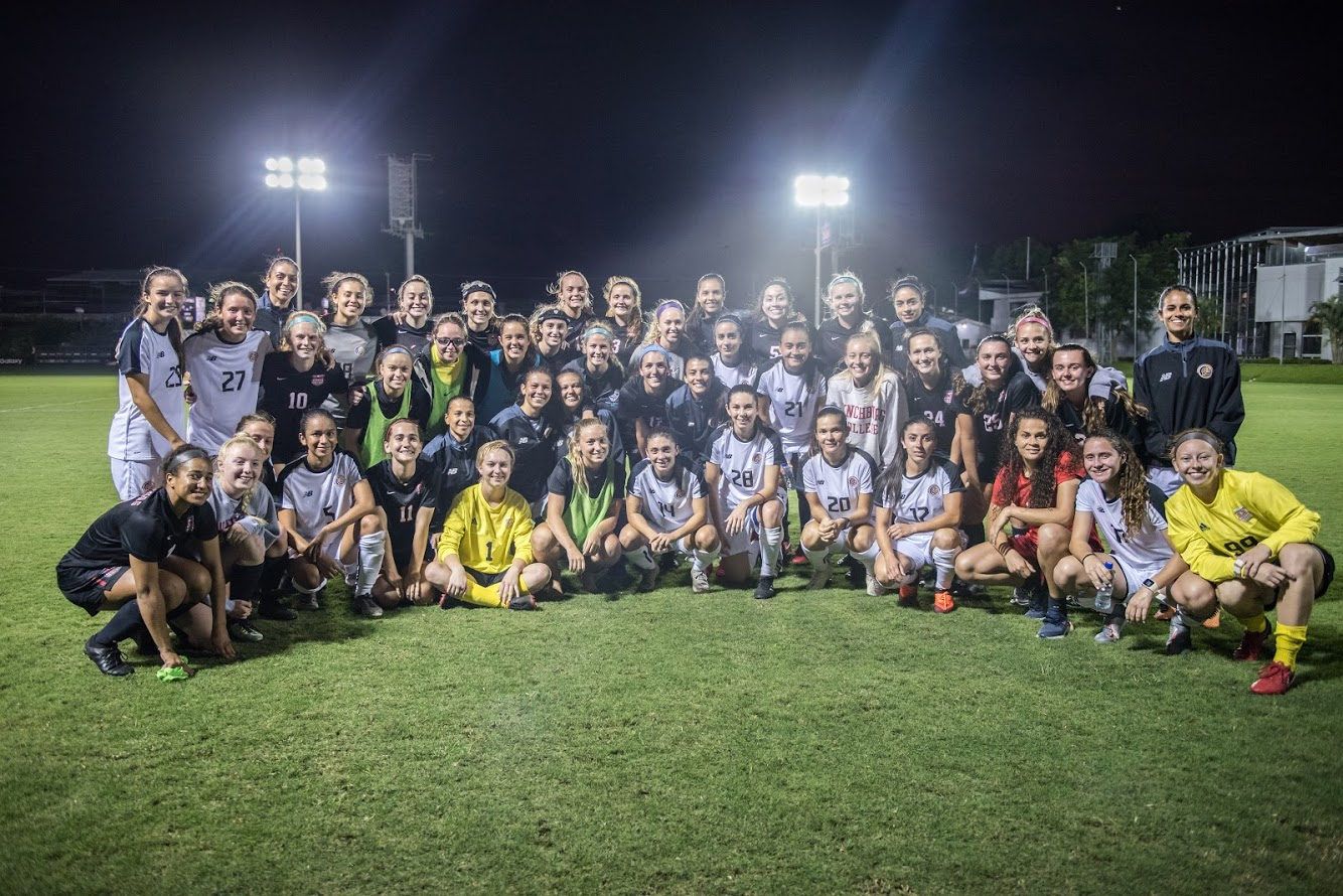 Photo of womens soccer team in costa rica