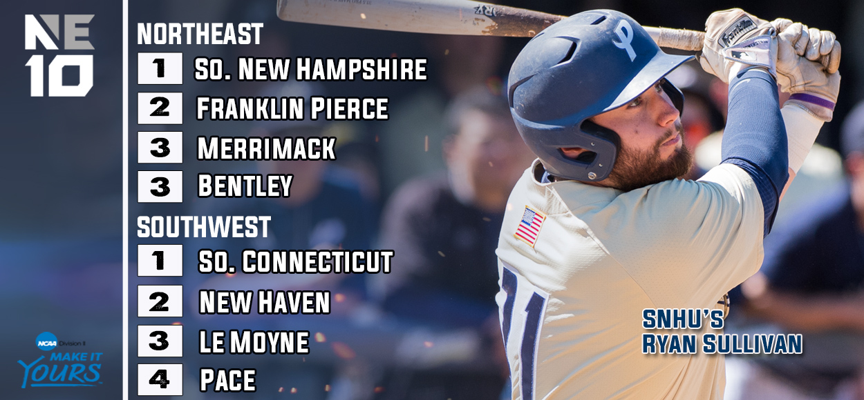 Southern Connecticut and Southern New Hampshire Earn Top Seeds for Upcoming NE10 Baseball Championship