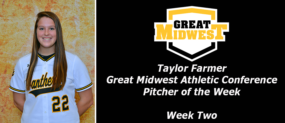 Farmer Garners Great Midwest Athletic Conference Pitcher Of The Week Honors