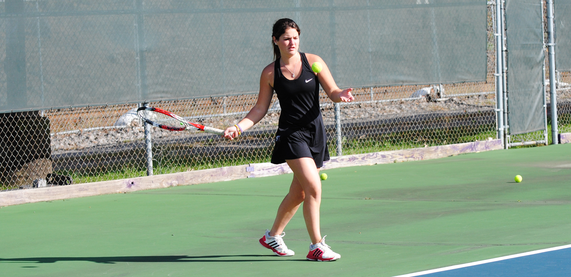 Junior Kristen Denniston was one of six Royals to win a singles title at the King's Fall Invitational on Sunday.