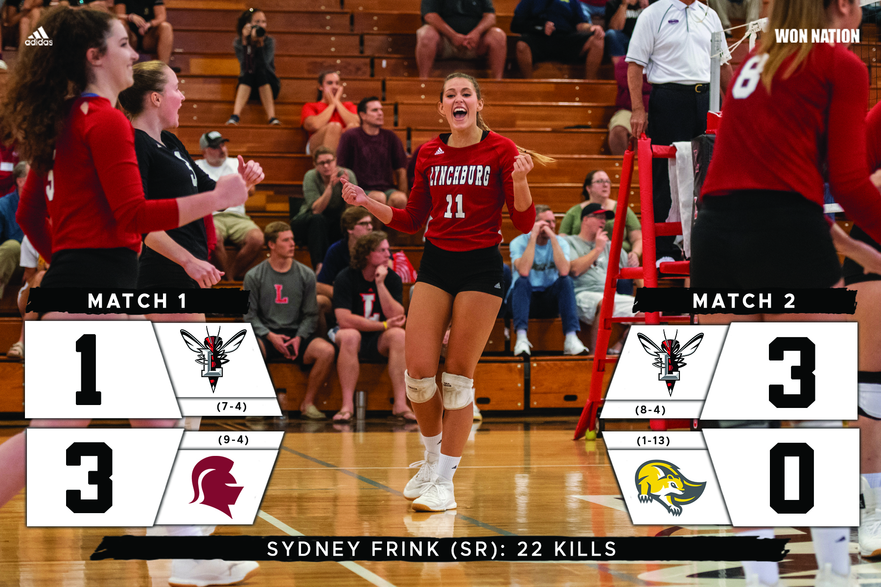 Volleyball splits tri-match Saturday