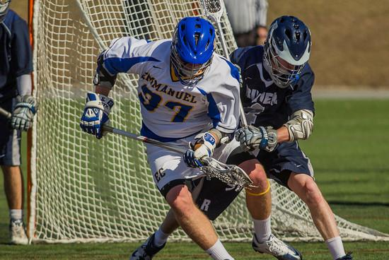 MEN'S LACROSSE RALLIES FOR 8-7 GNAC WIN OVER RIVIER