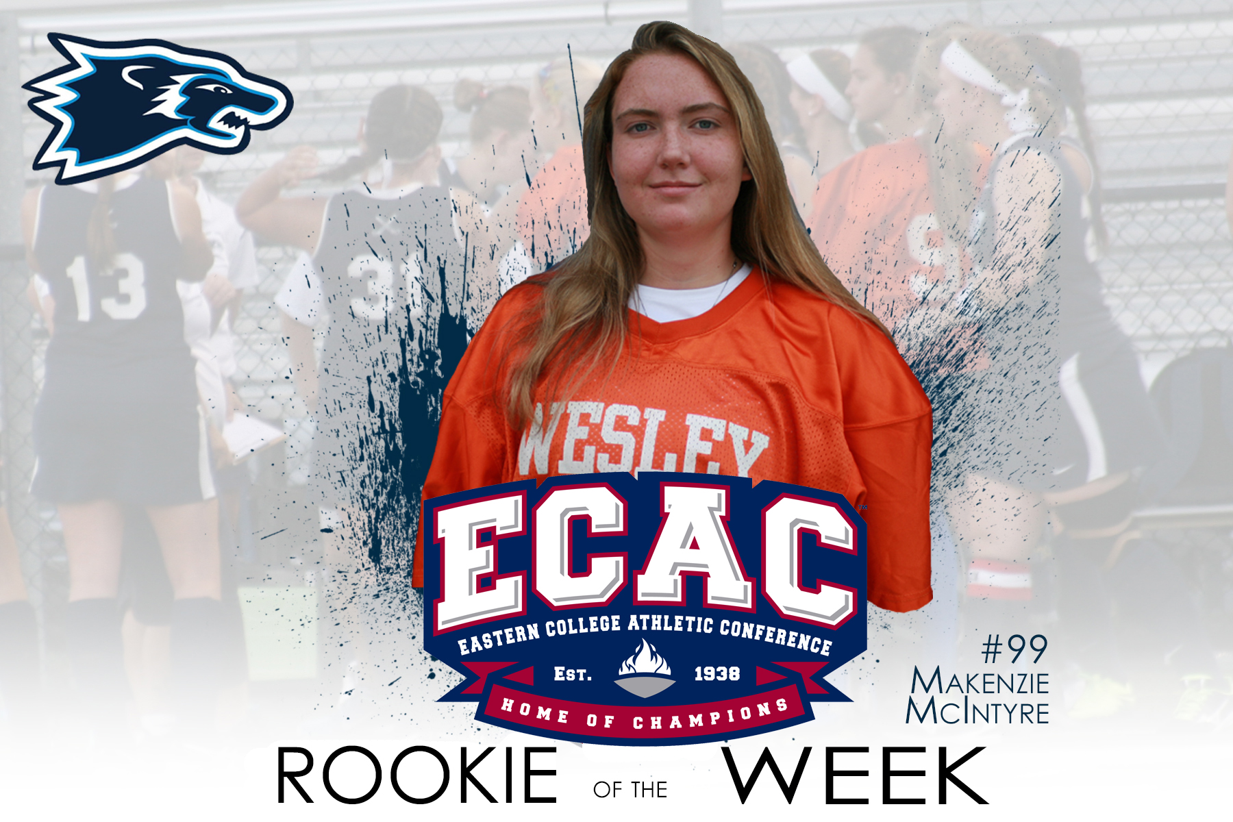 McIntyre Named ECAC Rookie of the Week