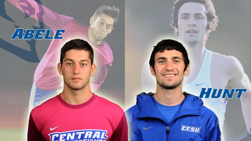Abele, Hunt Earn NEC Scholar-Athlete Honors