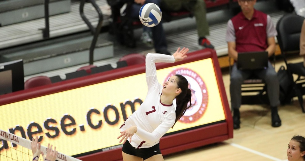 Volleyball Drops Four-Setter to Portland on Thursday
