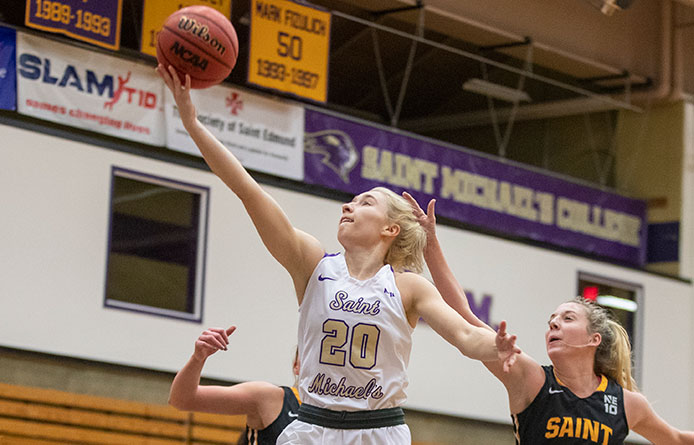 Women's Basketball Opens NE10 Play with Loss at No. 9 Saint Anselm
