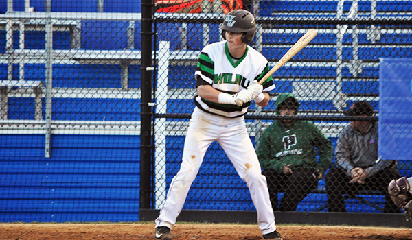 Copyright 2017; Wilmington University. All rights reserved. Photo of Dan Hyatt against Philadelphia as he went 2-for-3 with two doubles and four RBI, taken by Ellen O'Brien (CACC).