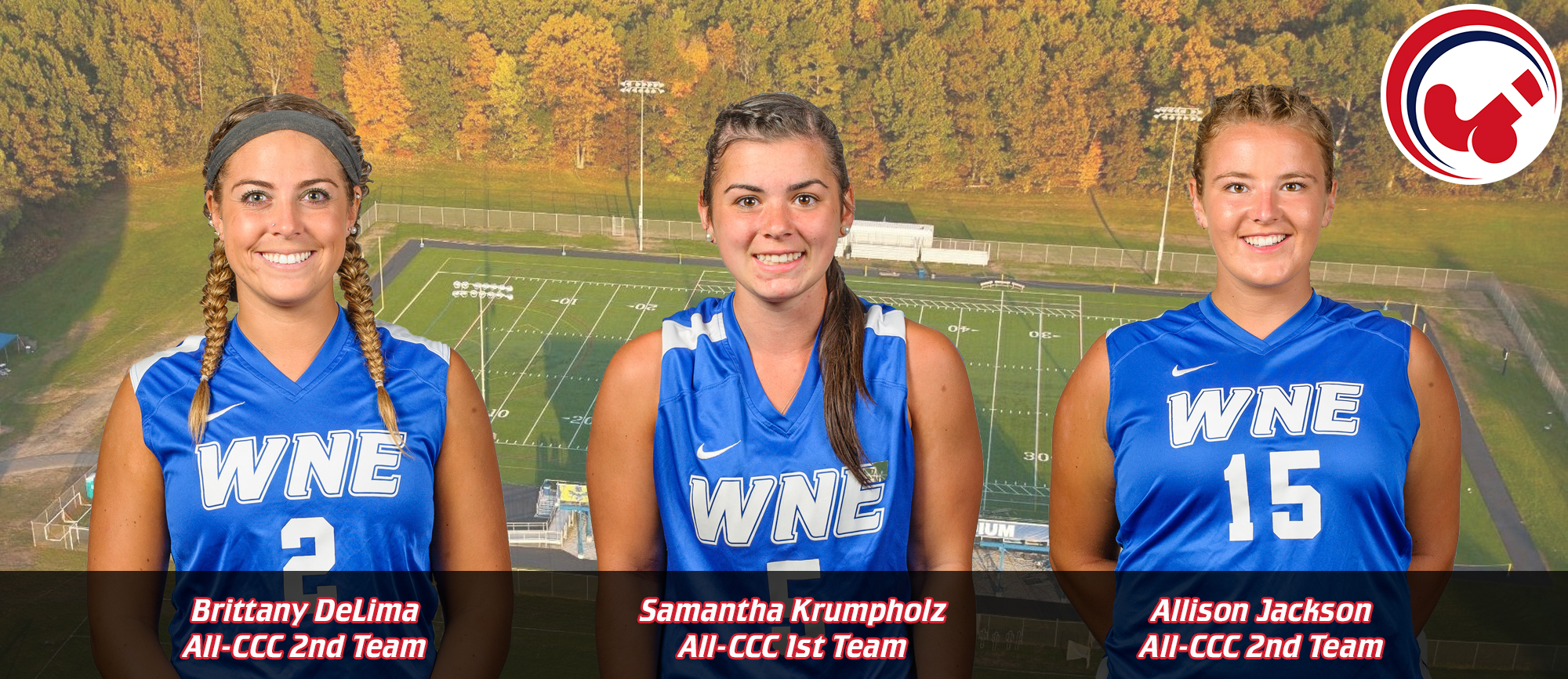 Krumpholz, DeLima & Jackson Earn All-CCC Accolades