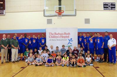 "Monks Chip in at ""Hoops for Hope"" Event"