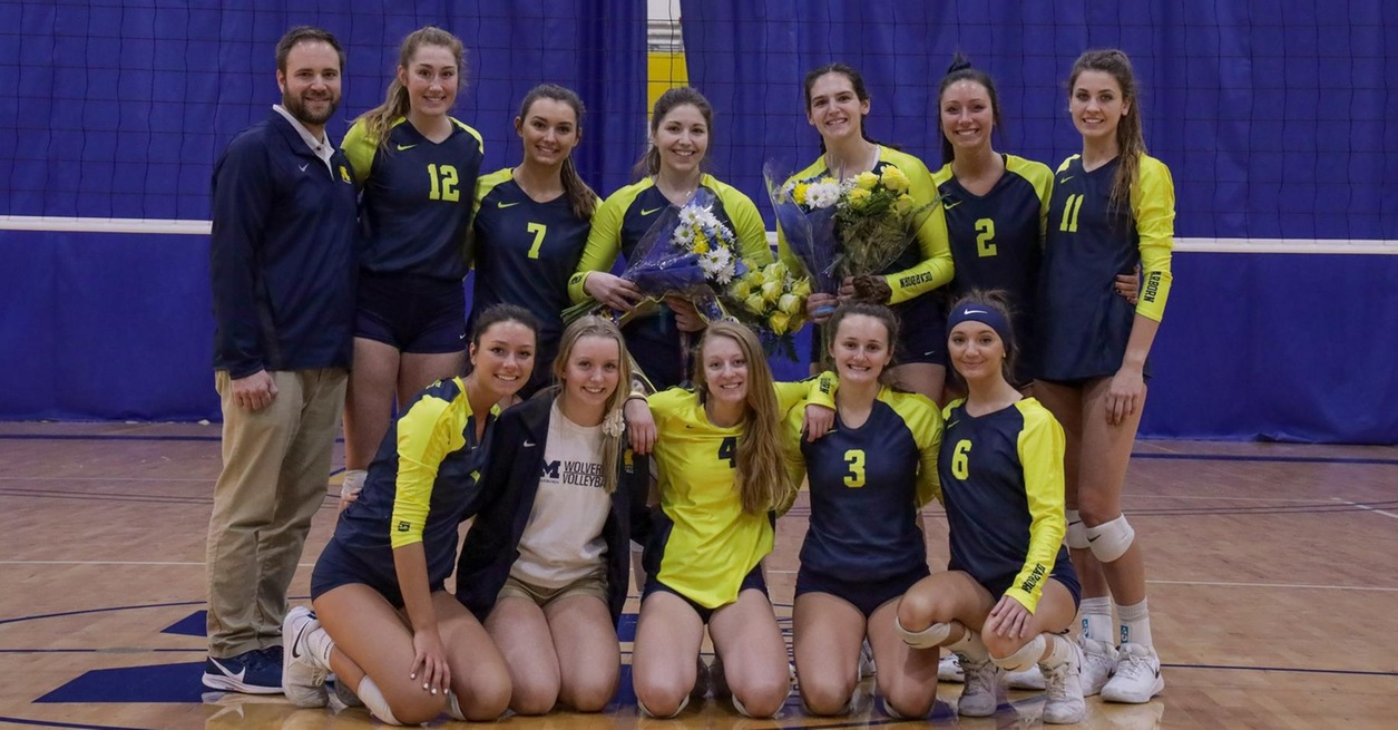 Wolverines close 2019 with sweep of Warriors