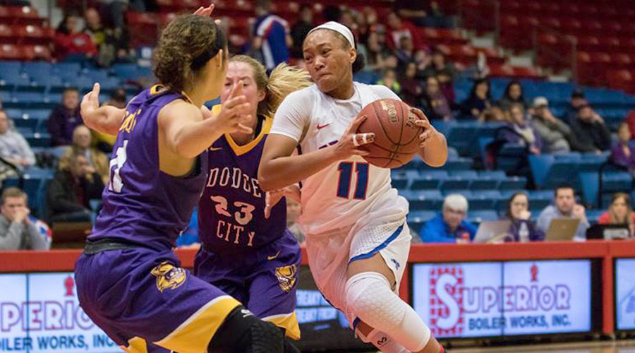Alicia Brown and the Blue Dragons take on rival Seward County at 5:30 p.m. on Wednesday at the Sports Arena. (Allie Schweizer/Blue Dragon Sports Information)