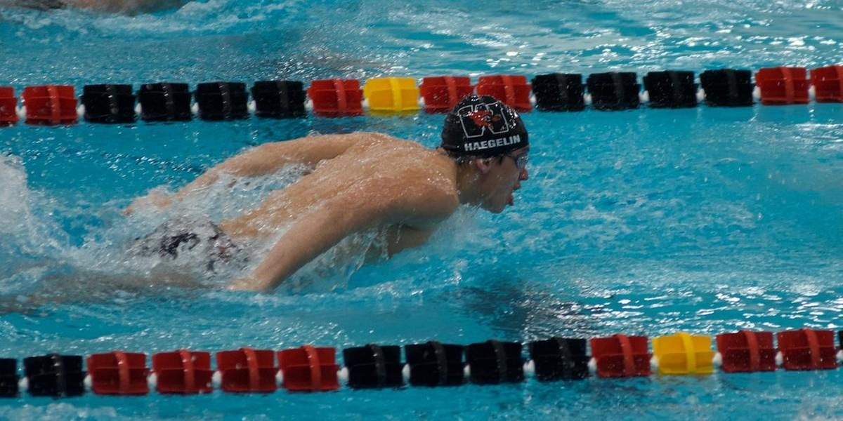 Jeffrey Haegelin placed eighth in the 200-yard butterfly (Ronald Wimer).