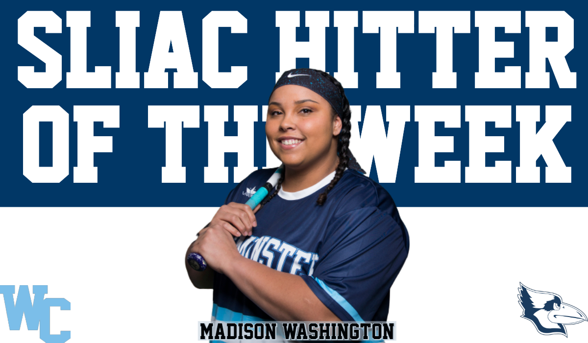 Washington Named SLIAC Hitter of the Week