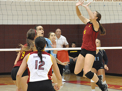 Ferris State Volleyball Downs Northwood