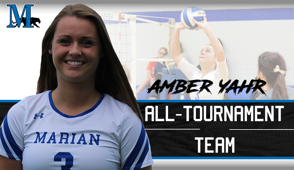 Amber Yahr JWU all-tournament graphic.