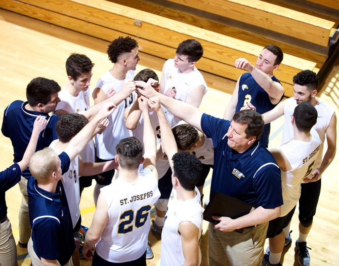 Men's Volleyball Opens Season with Comeback Win Over #14 Mount St. Joseph's