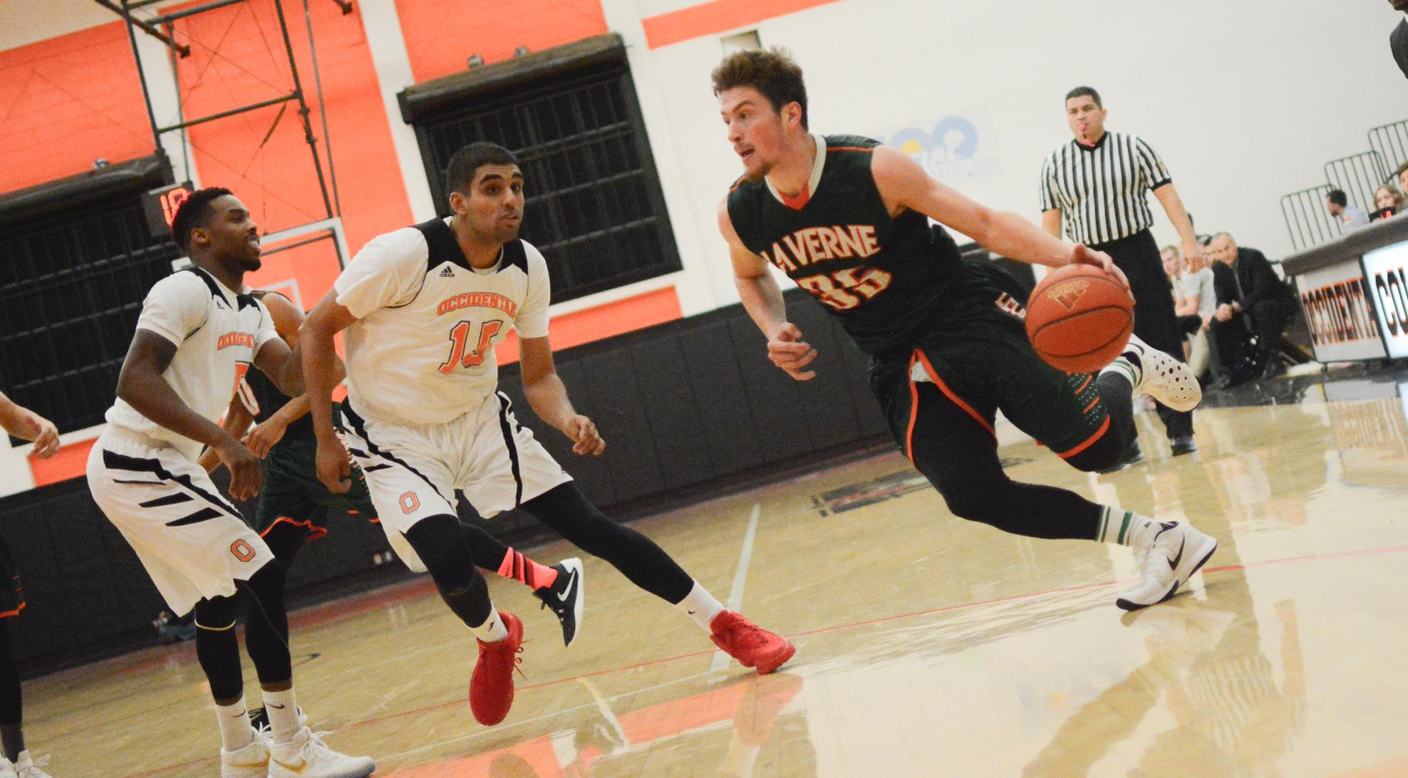 Men's Basketball loses steam in second half at Cal Lutheran