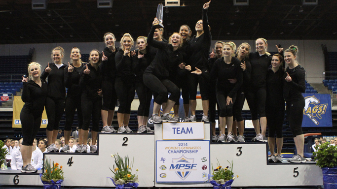 GYMNASTICS WINS MPSF CHAMPIONSHIP WITH SEASON HIGH SCORE