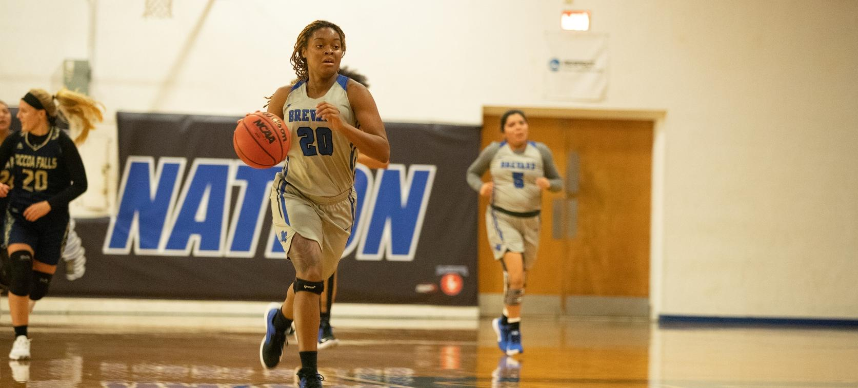 Junior forward Deja Riddick posted a new career-high 22 points in Brevard's season-opening 65-56 victory over Toccoa Falls College (Photo courtesy of Thom Kennedy '21).
