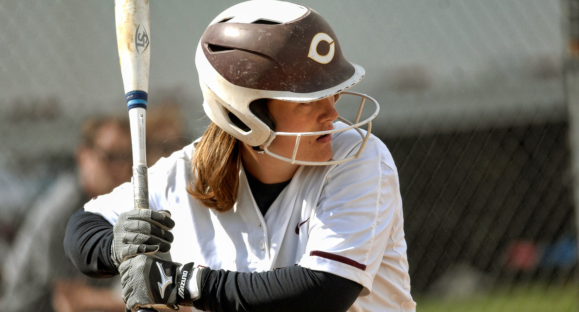 Junior Taylor Erholtz hit her second career home run in the Cobbers' game with Eastern Nazarene.