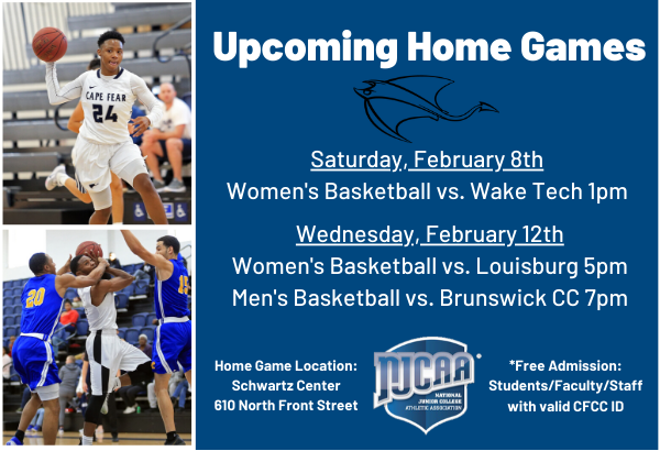 Join us for Upcoming Basketball Games