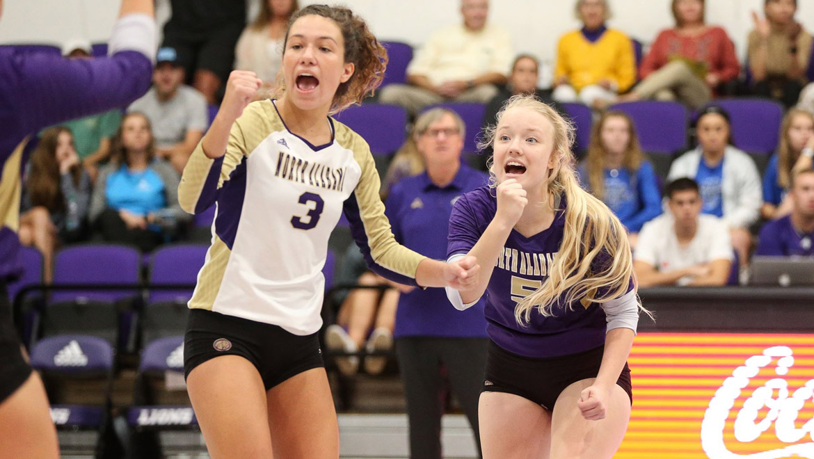 North Alabama Volleyball Outlasts NJIT, 3-2