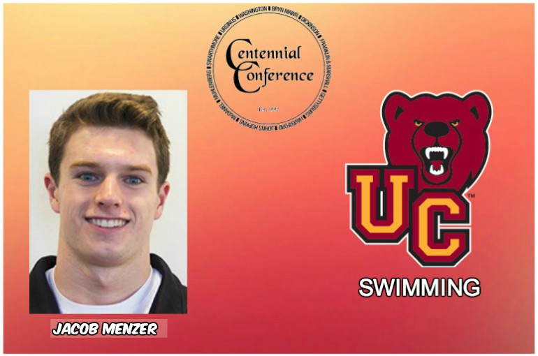 Jacob Menzer, Men's Swimmer of the Week, 1/29/18