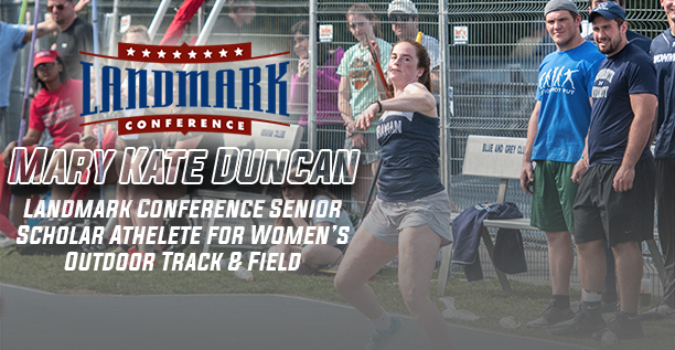 Mary Kate Duncan honored as Landmark Conference Women's Outdoor Track & Field Senior Scholar-Athlete