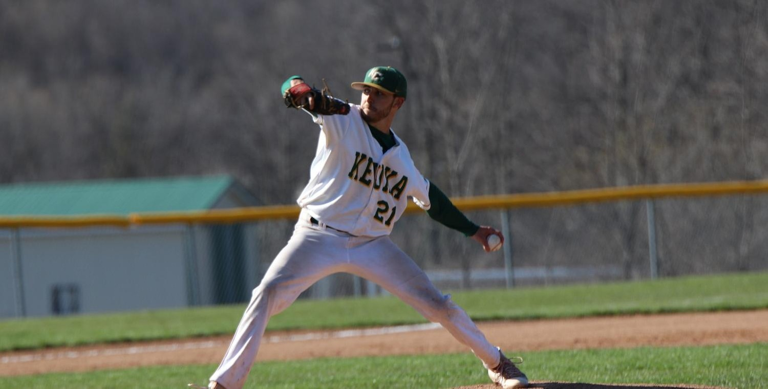Ryan Lawrence (21) earned the win on the mound for Keuka College -- Photo by Grady Omasombo