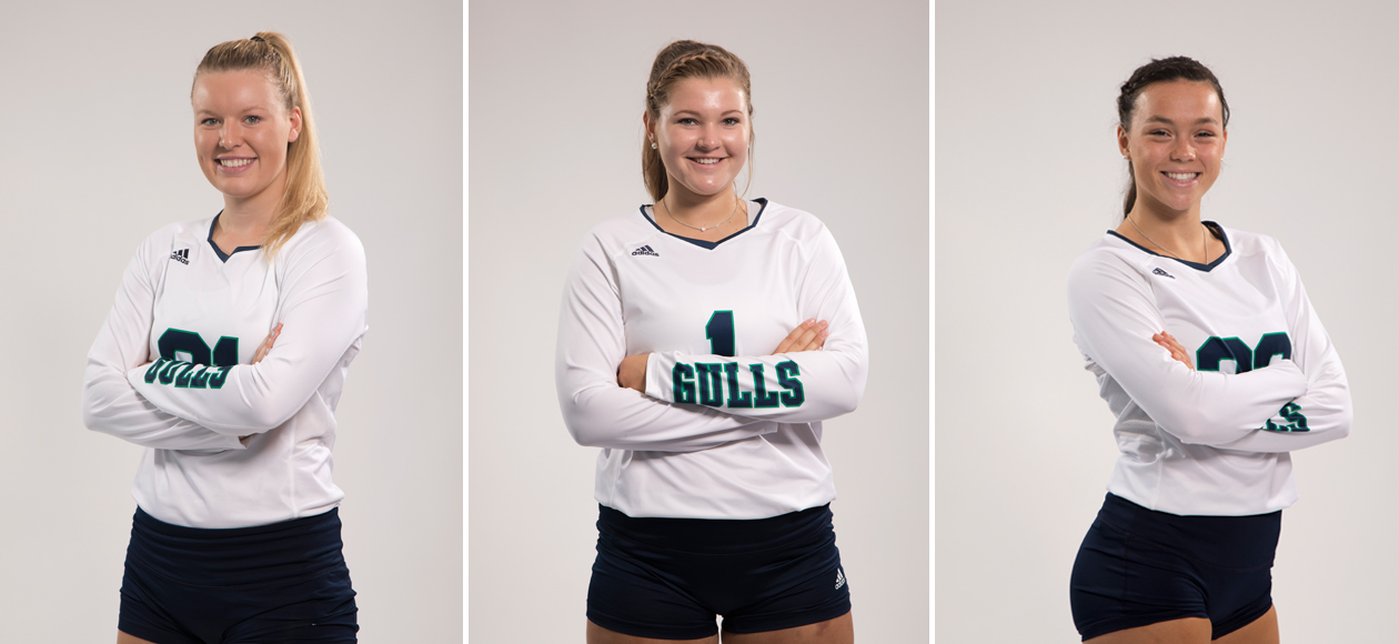 Staged photos of Zoey Gifford, Amanda Gilbert and Mackenzie Kennedy.