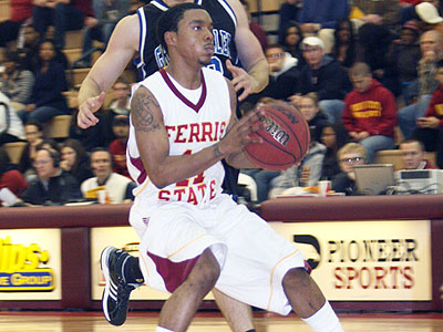 FSU's Darien Gay handles the ball in Monday's decisive Bulldog victory (Pioneer Photo)