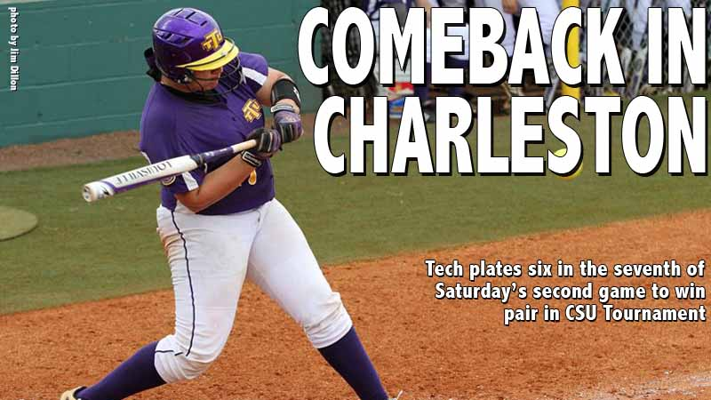 Tech's scores six in the seventh to complete twin bill sweep in CSU Tournament