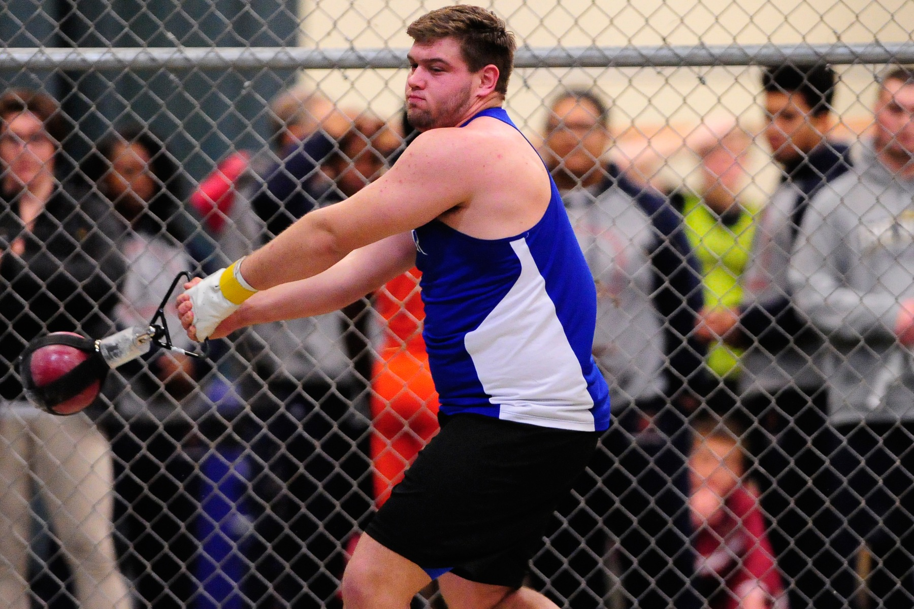Bauer Nearly Breaks Weight Throw Record for Men's Track & Field at Albright Invite