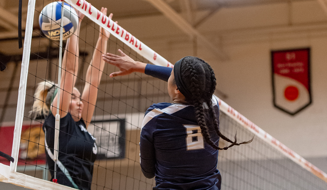 Women's Volleyball Loses A Seesaw Battle With The Lesley Lynx