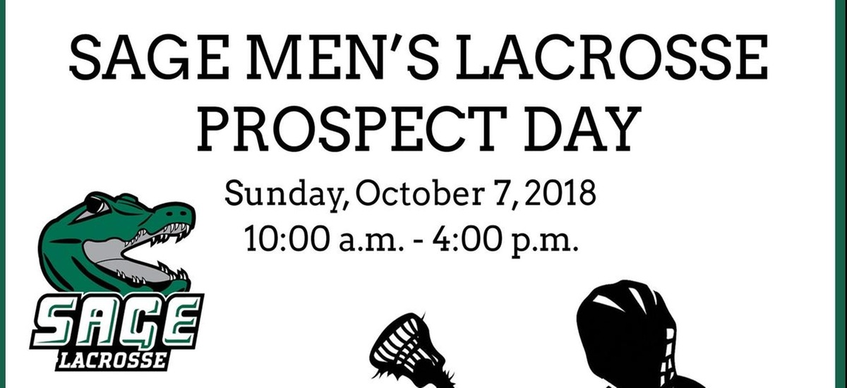 Join Sage Men's Lacrosse Team for a Prospect Day Clinic on October 7