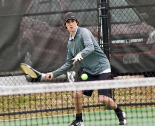 Pfeiffer Sweeps Guilford, 9-0
