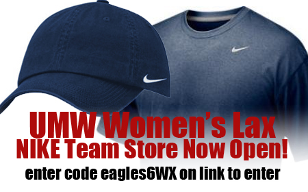 UMW Women's Lacrosse NIKE Team Store open Until December 25!