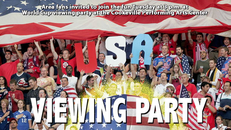 Area soccer fans invited to World Cup viewing party Tuesday at 3 p.m.